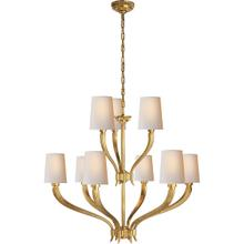 View Product - E. F. Chapman Ruhlmann 9 Light 35 inch Antique-Burnished Brass Chandelier Ceiling Light