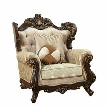 ACME Shalisa Chair w/2 Pillows - 51052 - Fabric & Walnut