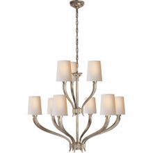 View Product - E. F. Chapman Ruhlmann 9 Light 35 inch Antique Nickel Chandelier Ceiling Light