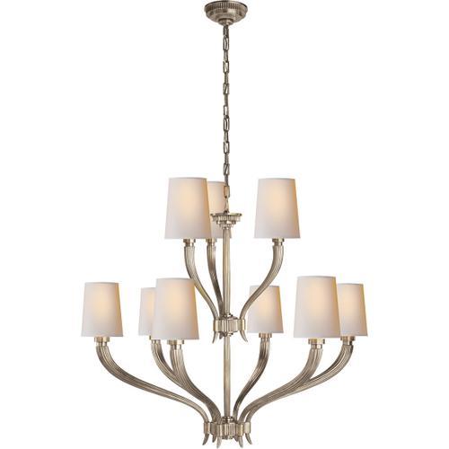 - E. F. Chapman Ruhlmann 9 Light 35 inch Antique Nickel Chandelier Ceiling Light