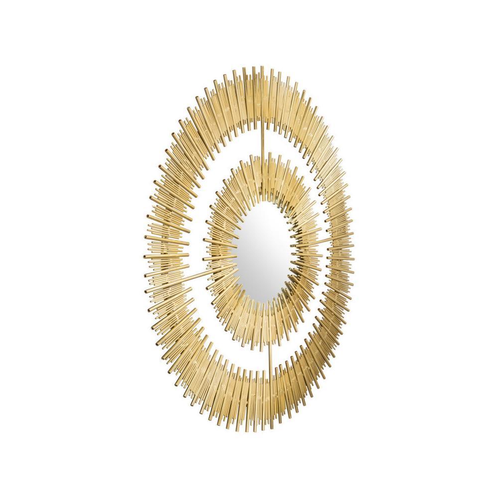 See Details - Zeus Round Mirror Gold