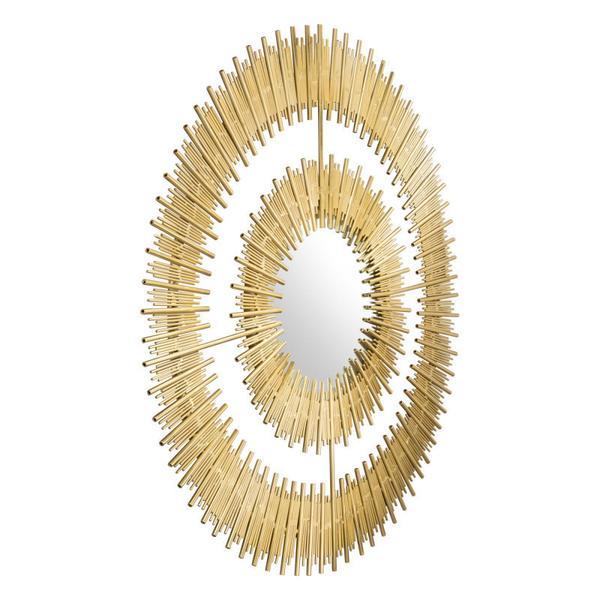 Zeus Round Mirror Gold