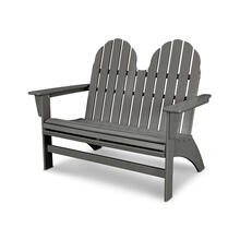 Slate Grey Vineyard Adirondack Bench