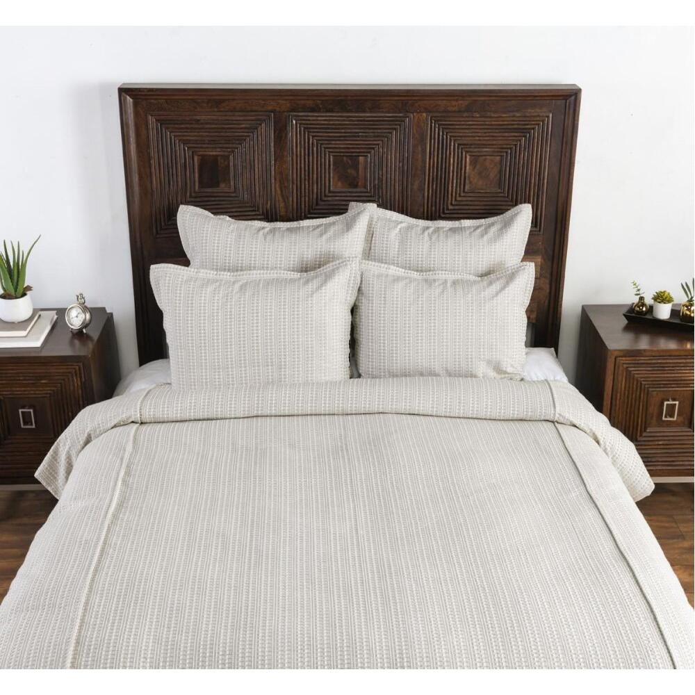 Mason Taupe 3Pc Queen Duvet Set