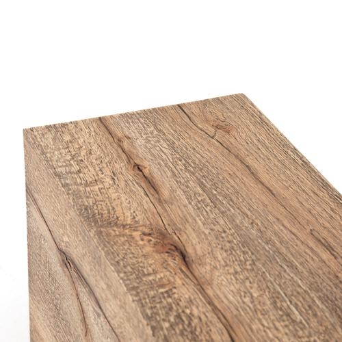 End Table Configuration Rustic Oak Finish Covell Sectional Tables