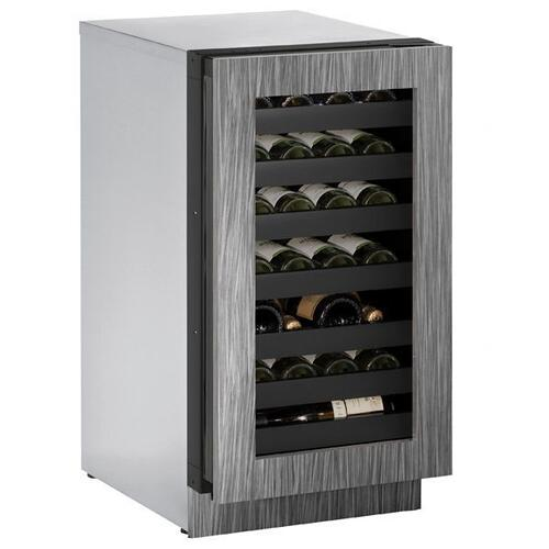 """U-Line - 3018wc 18"""" Wine Refrigerator With Integrated Frame Finish and Field Reversible Door Swing (115 V/60 Hz Volts /60 Hz Hz)"""