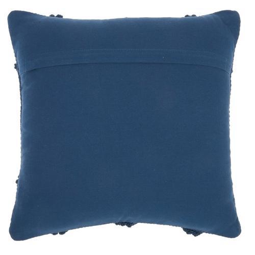 """Life Styles Gc101 Navy 18"""" X 18"""" Throw Pillow"""
