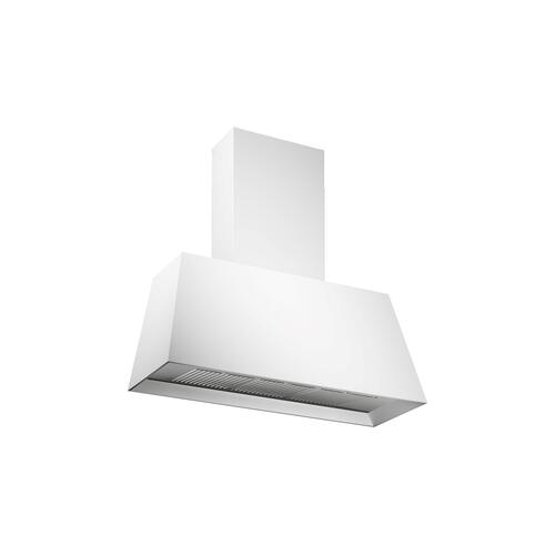 36'' Contemporary Canopy Hood, 1 motor 600 CFM Bianco Matt