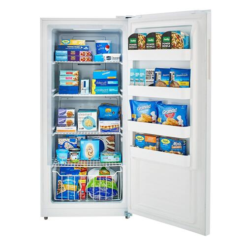 Midea - 13.8 Cu. Ft. Upright Convertible Freezer White