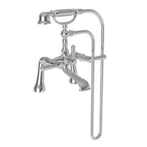 Satin Gold - PVD Exposed Tub & Hand Shower Set - Deck Mount