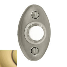 Satin Brass and Brown Oval Bell Button