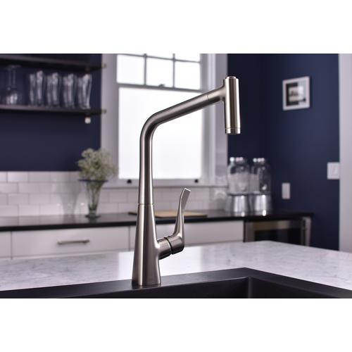 Steel Optic HighArc Kitchen Faucet, 2-Spray Pull-Out, 1.75 GPM