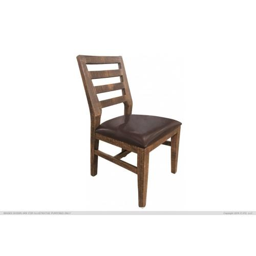 Chair w/ Solid wood & fabric Seat Salamanca finish
