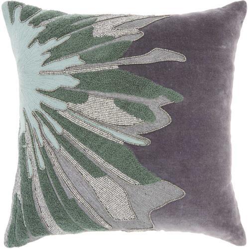 "Luminescence E1205 Grey 16"" X 16"" Throw Pillow"