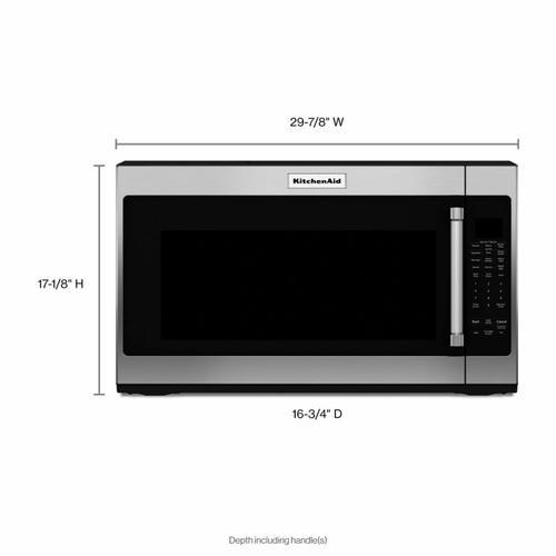 "KitchenAid - 30"" 1000-Watt Microwave Hood Combination - PrintShield Stainless"
