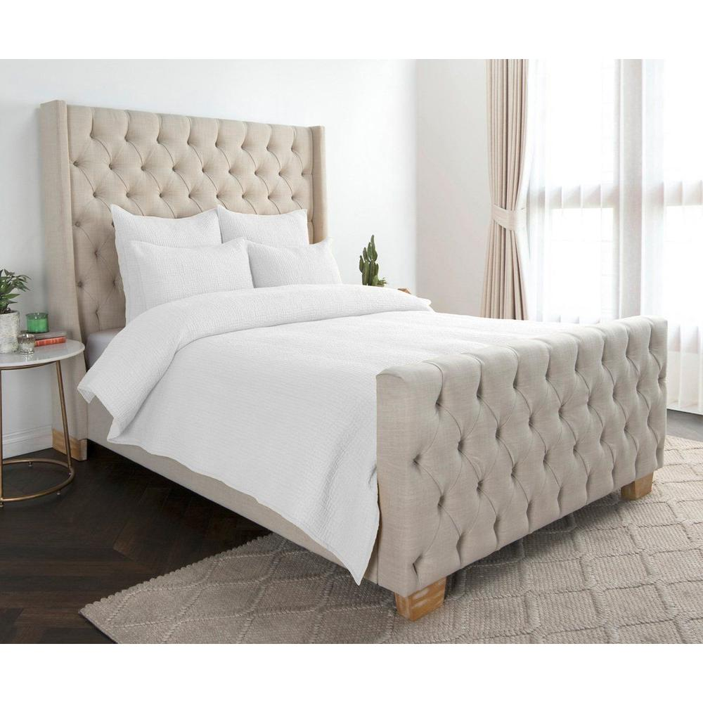See Details - Danica White 4Pc King Quilt Set