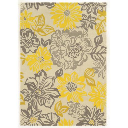 Trio Floral Grey/yellow 5ft X7ft
