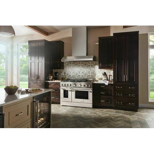 KitchenAid - KitchenAid® 48'' Smart Commercial-Style Gas Range with Griddle - Milkshake