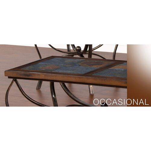 Santa Fe End Table w/ Metal Base