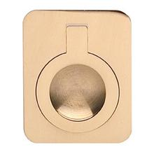 Rectangular Drop Ring in US3 (Polished Brass, Lacquered)