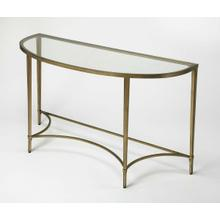 Versatile and sleek, this eye-catching console table gracefully greets guests when you sit it on the wall across near front door or behind your sofa. While stunning all by itself, you can always up the drama by setting a tall vase of florals on top and ha