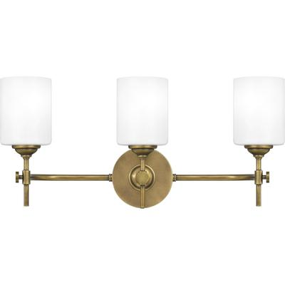 Aria Bath Light in Weathered Brass