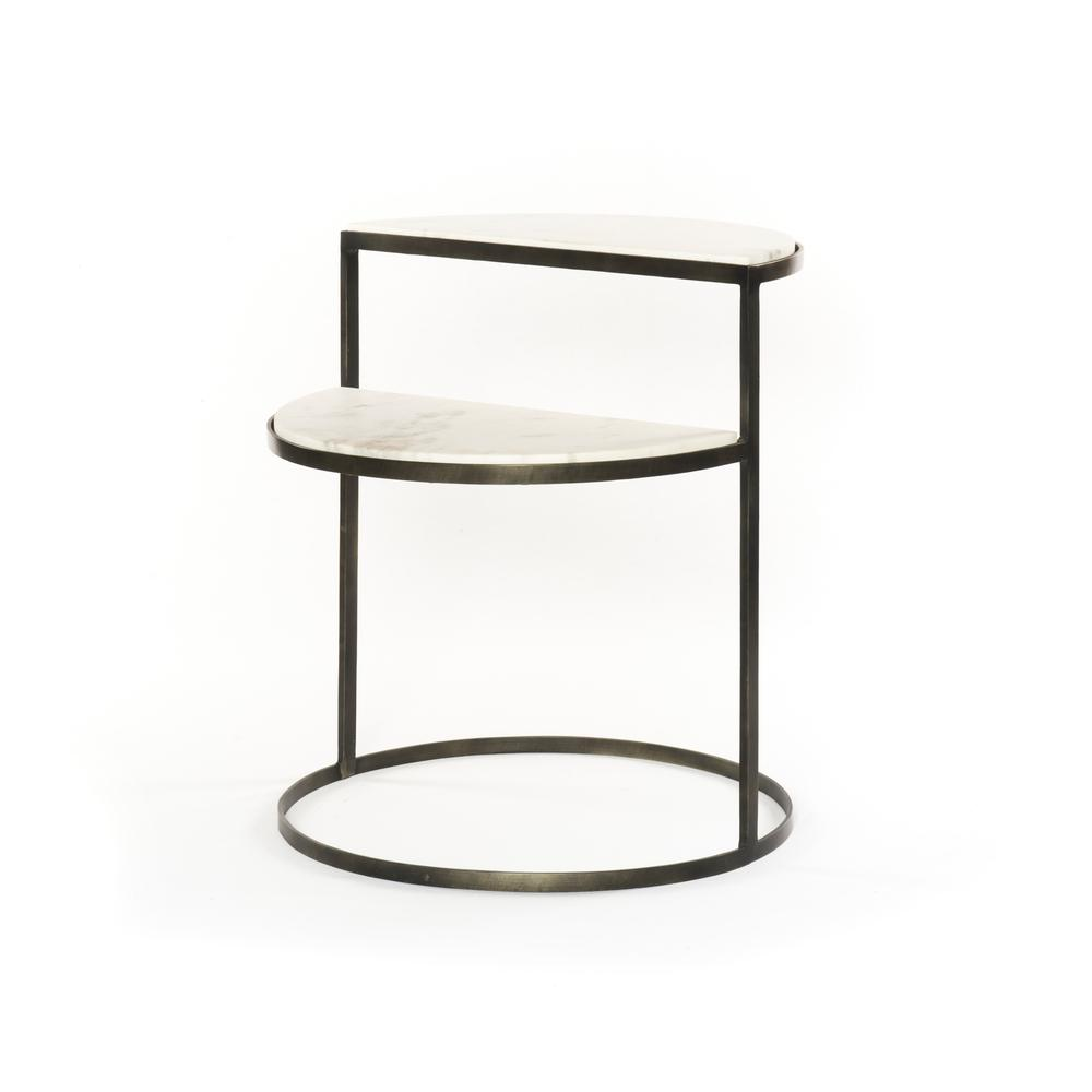 Bonnell Nightstand- Hammered Grey
