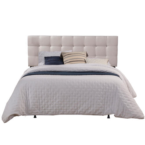 Delaney King Upholstered Headboard With Frame, Fog