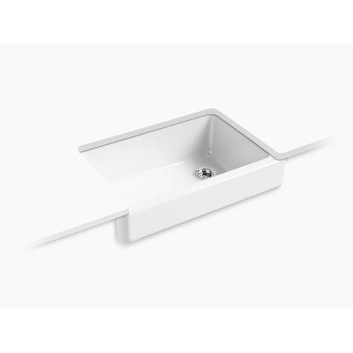 "Sea Salt 32-1/2"" X 21-9/16"" X 9-5/8"" Undermount Single-bowl Farmhouse Sink"