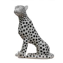 View Product - Modrest Snow Leopard - White & Black Sculpture