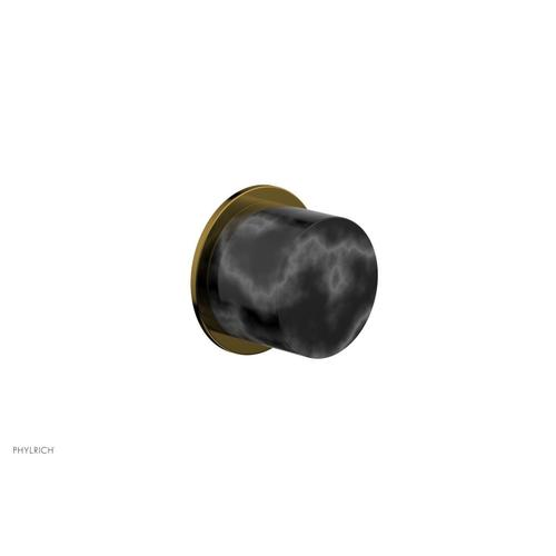 BASIC II Cabinet Knob - Marble 230-92 - French Brass