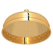 View Product - 8 Inch Bordano Rain Anti-Calcium Showerhead - Unlacquered Brass