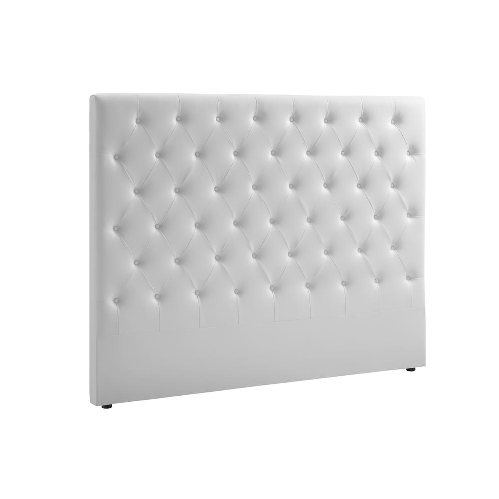 The Miles King White Eco-leather Headboard