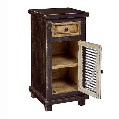 Small Chairside Chest - Marshmallow Cocoa Finish