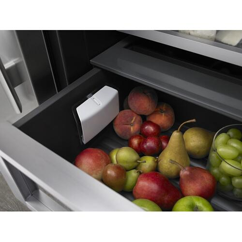 "42"" Built-In Side-by-Side Refrigerator with Water Dispenser Stainless Steel"