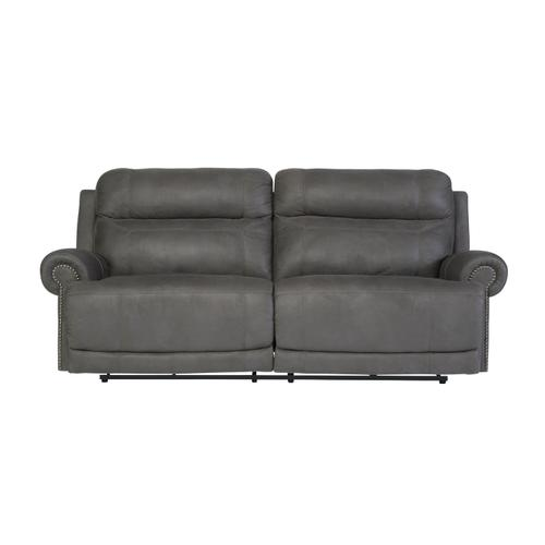 Austere 2 Seat Reclining Power Sofa & Console Loveseat Gray