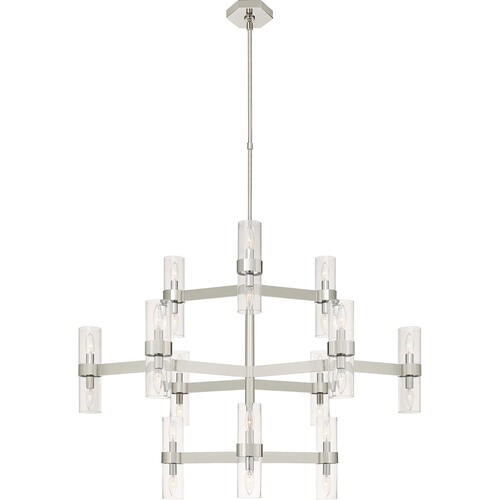 Visual Comfort - AERIN Margita 24 Light 45 inch Polished Nickel Chandelier Ceiling Light in Clear Glass, Medium