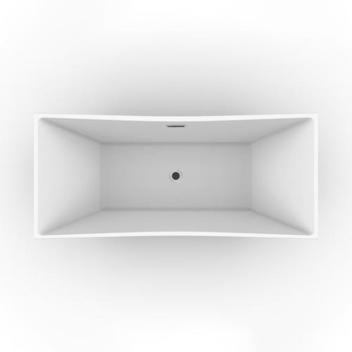 """Product Image - Tanya 71"""" Acrylic Tub with Integral Drain and Overflow - Polished Nickel Drain and Overflow"""