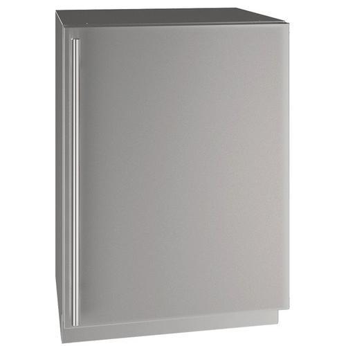 "U-Line - Hre524 24"" Refrigerator With Stainless Solid Finish (115 V/60 Hz Volts /60 Hz Hz)"