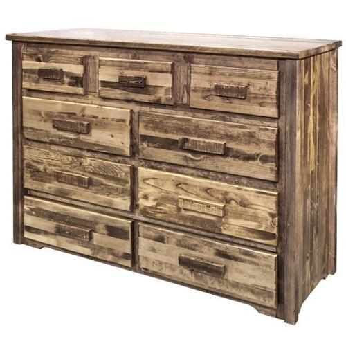 Homestead Collection 9 Drawer Dresser, Stain and Lacquer Finish