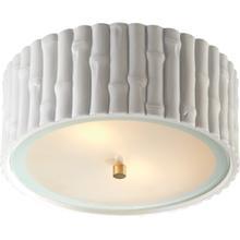 View Product - Alexa Hampton Frank 2 Light 11 inch Plaster White Flush Mount Ceiling Light