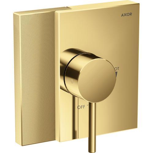 AXOR - Polished Gold Optic Pressure Balance Trim - Diamond Cut