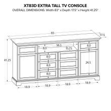 XT83D Extra Tall Custom TV Console