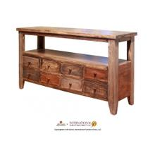 View Product - Sofa Table w/8 Drawers