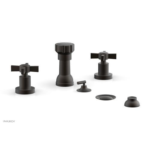 BASIC Four Hole Bidet Set - Blade Cross Handles D4137 - Oil Rubbed Bronze