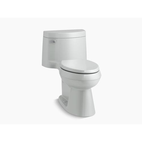 Kohler - Ice Grey One-piece Elongated 1.28 Gpf Chair Height Toilet With Quiet-close(tm) Seat