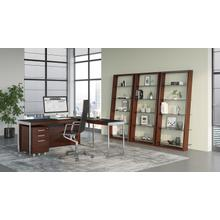 See Details - Eileen 5156 Leaning Shelf in Chocolate Stained Walnut