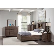 Madison County 3pc King Barn Door Bedroom: Bed, Dresser, Mirror