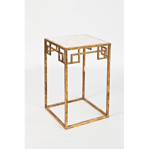 Global Archive Marble and Matte Gold Nesting Tables (set of 2)