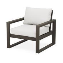 EDGE Club Chair in Vintage Coffee / Natural Linen